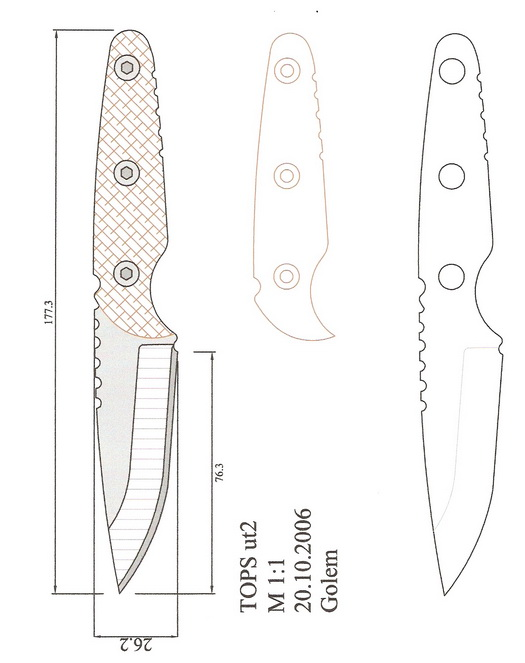 Скачать книгу чертежи ножей